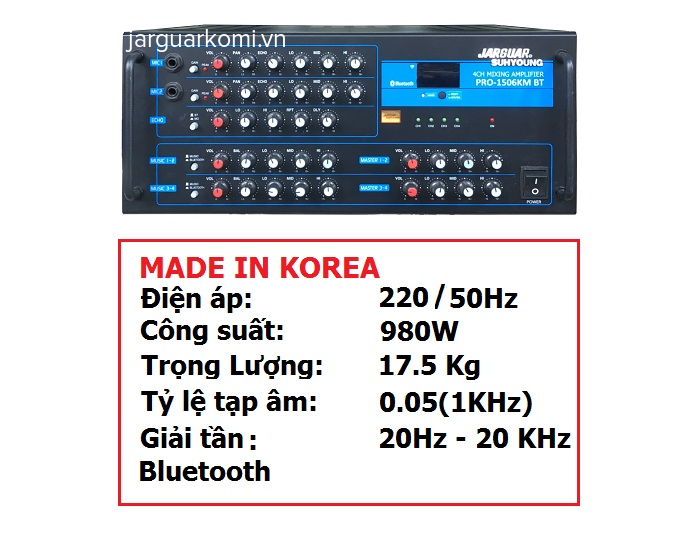 AMPLY JARGUAR SUHYOUNG PRO-1506B , Bluetooth