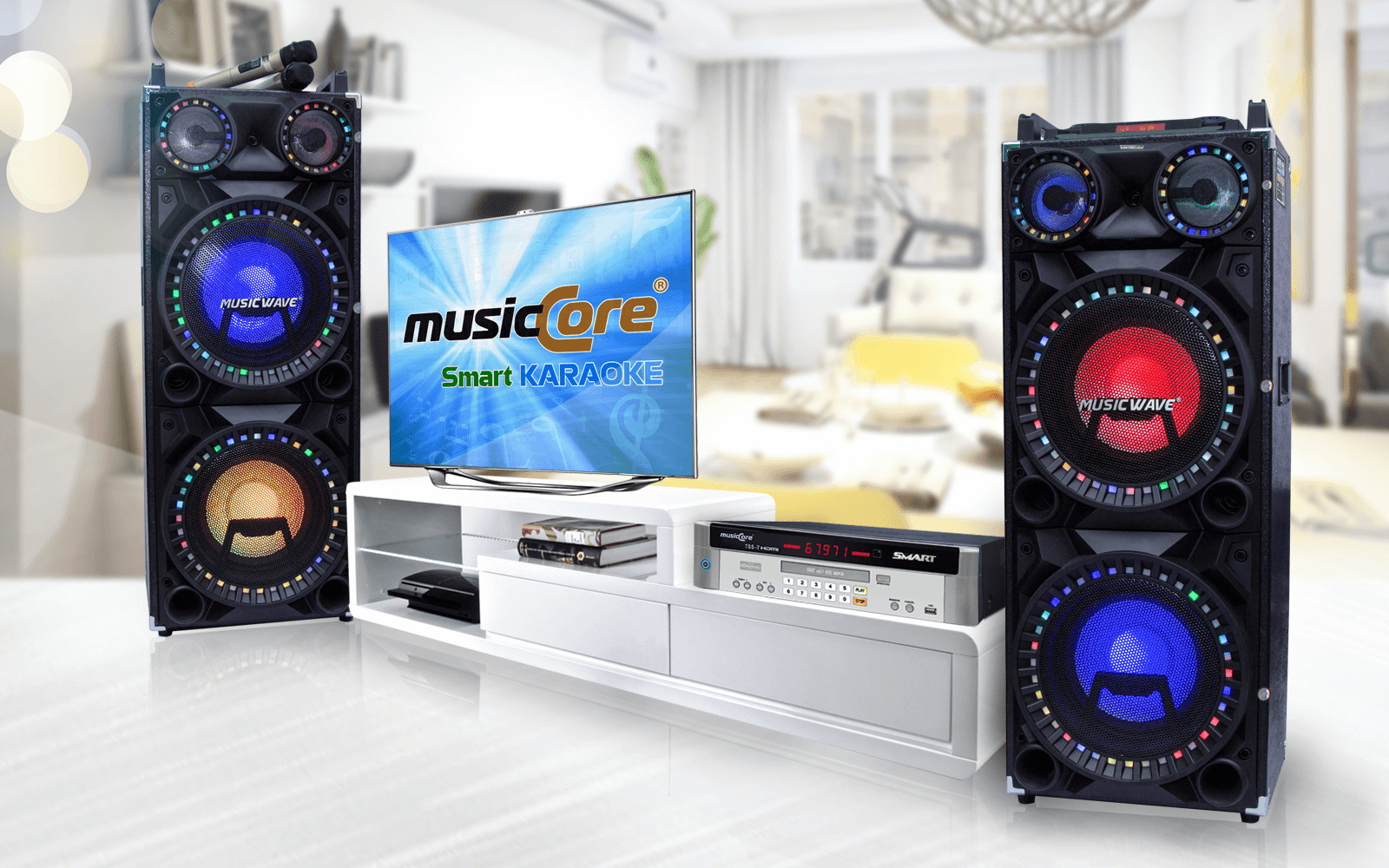 ĐẦU KARAOKE MUSICCORE TSS-7 SMART & LOA MUSIC WAVE MS-2300