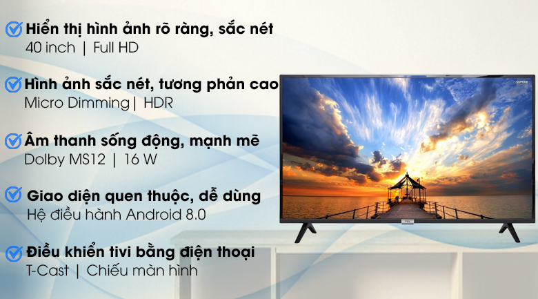 Android Tivi TCL 40 inch 40S6500