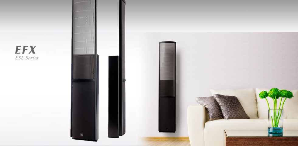 LOA MARTIN LOGAN EFX 230V SATIN BLACK SURROUND
