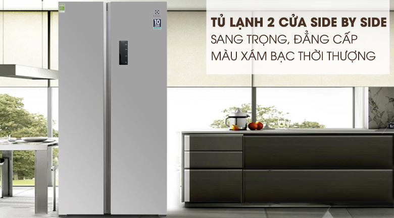 TỦ LẠNH SIDE BY SIDE ELECTROLUX ESE5301AGVN,INVERTER